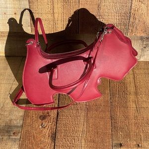 Red Scotty Dog Holiday Novelty Handbag